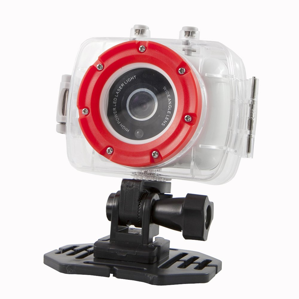 Polaroid XS9 HD 720p 5MP Waterproof Sports Action Camera with LCD Touch Screen