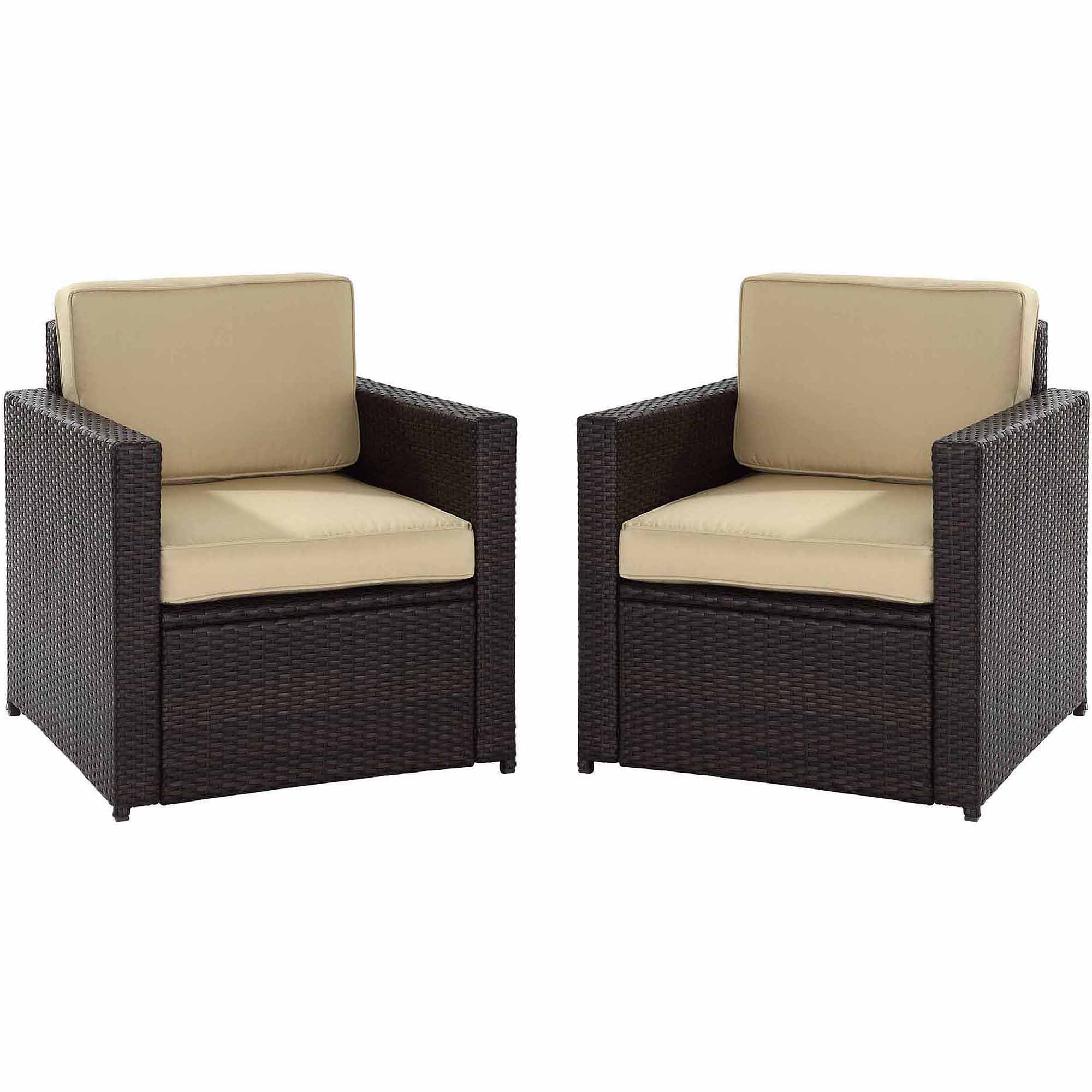 Crosley Furniture Palm Harbor 2 Piece Outdoor Wicker Seating Set    Walmart.com
