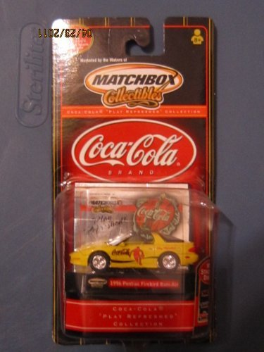 Play Refreshed 1996 Pontiac Firebird Ram-Air, Collectible Coca Cola Diecast By Matchbox by