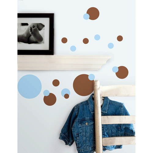 RoomMates - Blue Just Dots Peel & Stick Wall Decals