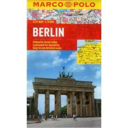 Marco Polo City Map Berlin: Extensive Street Index, Easy to Use Detailed Scale - Folded Map
