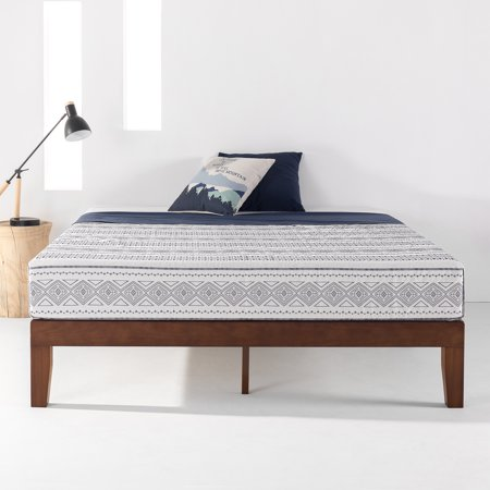 Best Price Mattress 12 Inch Classic Solid Wood Platform Bed