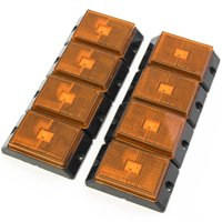 Red Hound Auto 8 Amber LED Side Marker Lights 4 Inches Truck Trailer Pickup Boat Bright