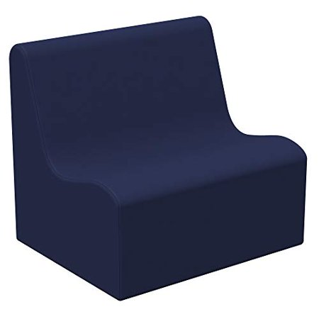 SoftScape Wave Preschool Sofa Seating, Play Soft Supportive Foam Furniture for Kids for Bedrooms, Playrooms, Classrooms - Navy