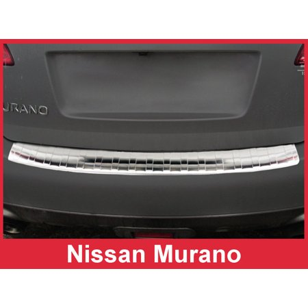 Stainless Steel Rear Bumper Protector for 2009-2014 Nissan Murano - Brushed Silver