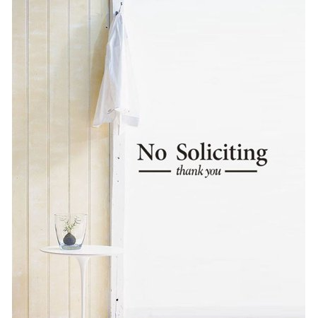 No Soliciting Wall Art Removable Home Vinyl Window Wall Stickers Decal Decor