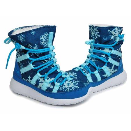 ca2dba5f9467c Nike - Nike Youth Girls Roshe One Hi Print Shearing Boots Blue White -  Walmart.com