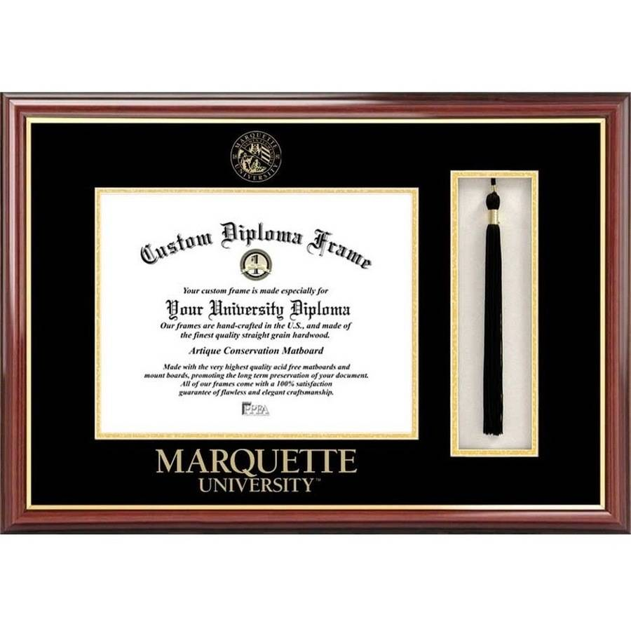 "Marquette University 9"" x 12"" Tassel Box and Diploma Frame"