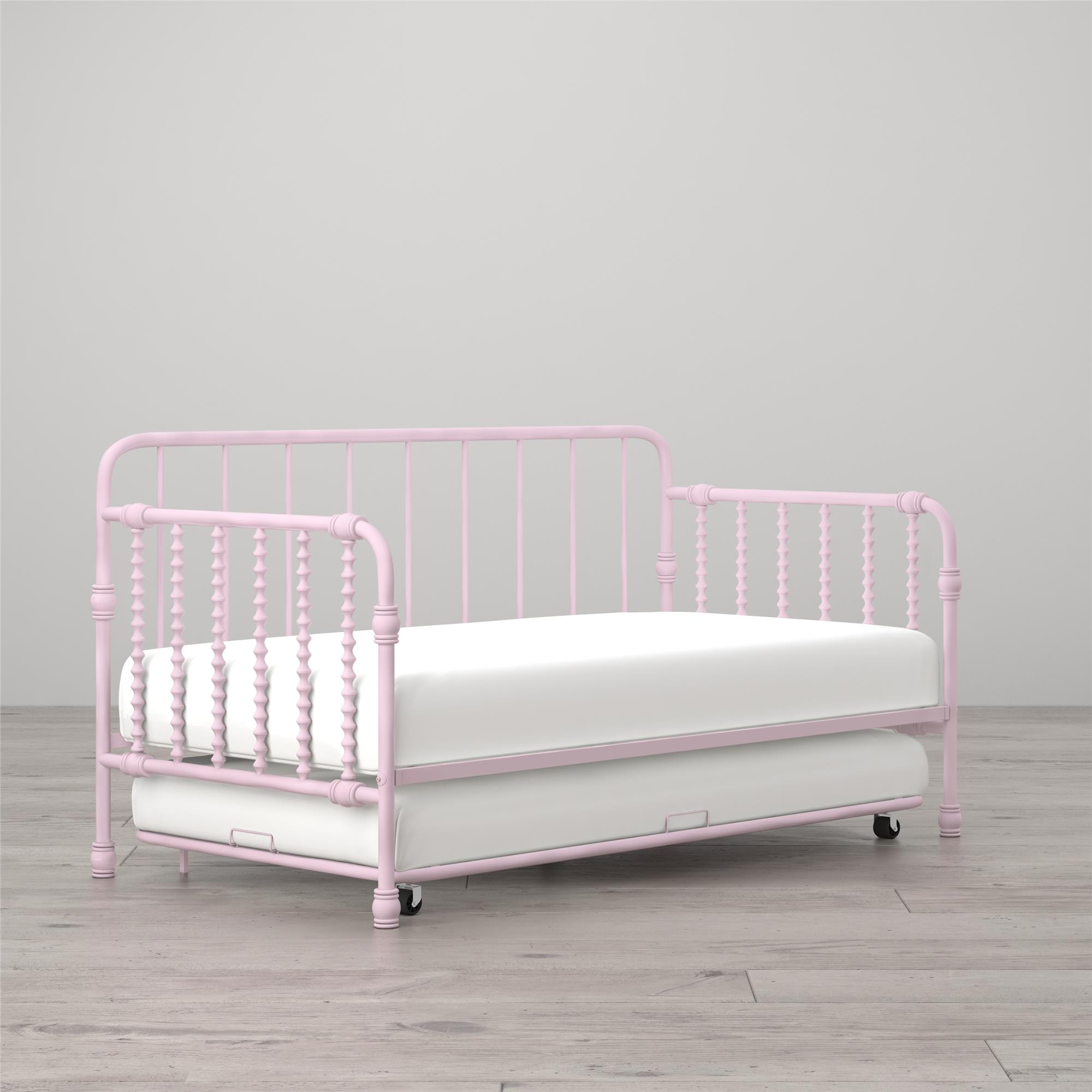 Little Seeds Monarch Hill Wren Metal Daybed with Trundle Twin, White