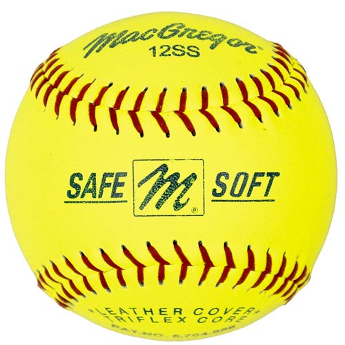 "MacGregor Safe/Soft 12"" Training Softballs, 12-Pack"