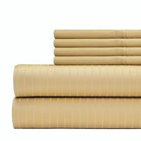 Aspire Linens Premier Stripe 700 Thread Count 6-piece Sheet Set