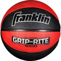 "Franklin Sports Grip-Rite 1000 Junior 27.5"" Basketball-Black/Red"