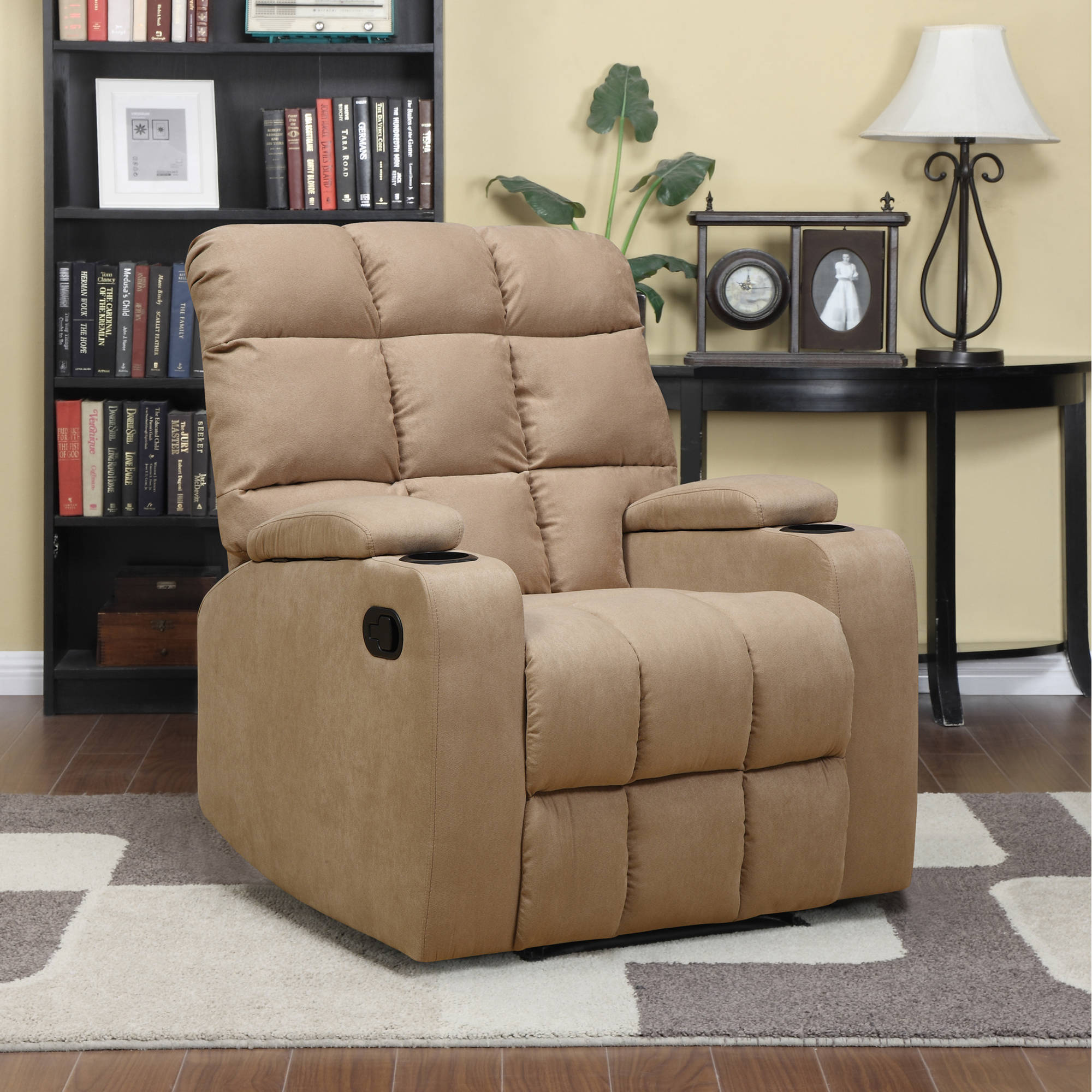 mainstays tyler wall hugger storage arm recliner chair multiple colors