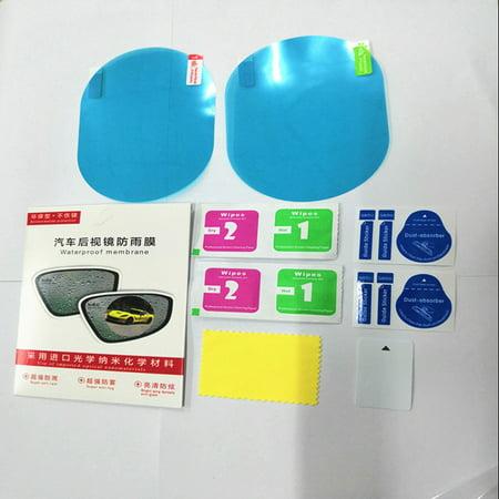 2 PCS Oval Professional Waterproof Rearview Mirror Film Car Stickers Antifog Anti-glare Auto Dimming Sticker Rain-proof Vinyl Wrap Car-styling Films