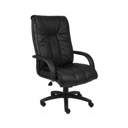 boss italian leather high back executive chair w knee tilt bseb9302