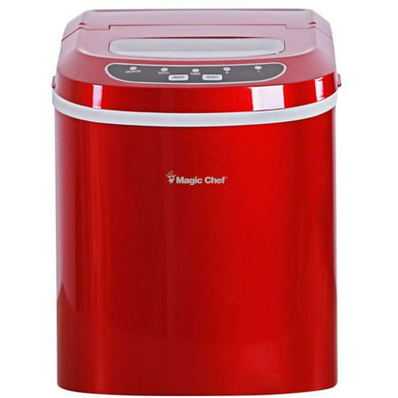 Magic Chef 27-Lb. Capacity Portable Countertop Ice Maker, Red