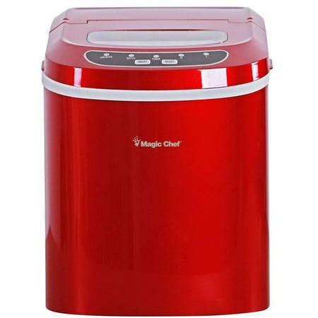 Magic Chef 27-Lb. Portable Countertop Ice Maker in Red