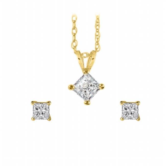 FineJewelryVault UBPDERP033APRY14D Princess Cut Diamond P...