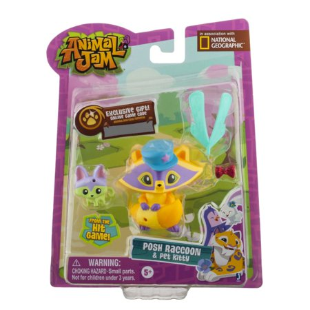 Animal Jam Posh Raccoon Pet Kitty Mini Figure 2-Pack ...