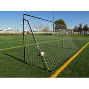 67831a33136 Vallerta® 12 x 6 Ft. Black Powder Coated Galvanized Steel Soccer Goal w