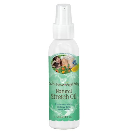 Natural Stretch Oil for Itchy Pregnancy Stretch Marks (4 Fl. Oz.)