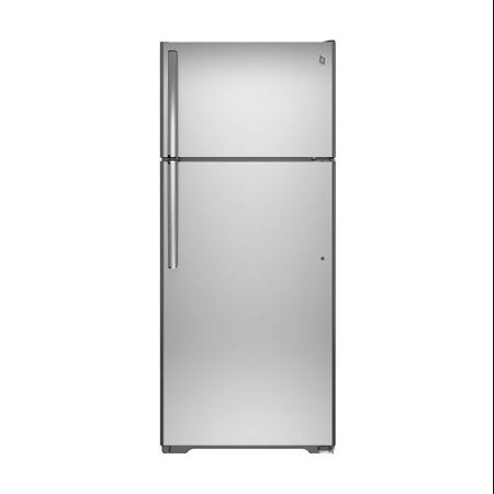 Gts18gshss  28  Top Freezer Refrigerator With 17 5 Cu  Ft  Capacity  Upfront Temperature Controls  Adjustable Spillproof Glass Shelves  Snack Drawer And Adjustable Humidity Drawers In Stainless Steel