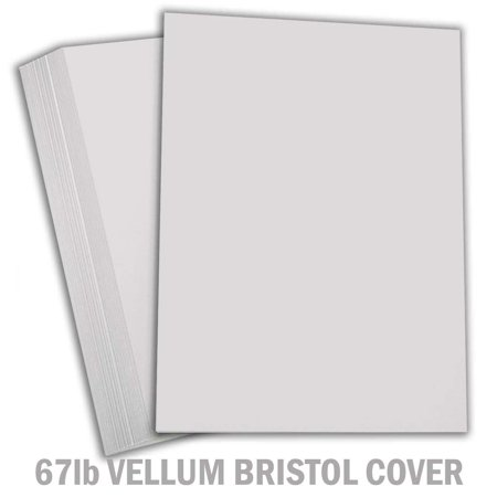 Hamilco Colored Carstock Thick Paper Gray Bristol Vellum Card Stock for Scrapbook Craft 8 1/2 x 11