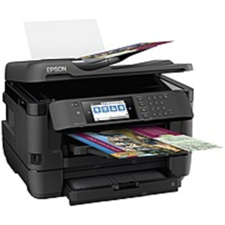 Epson WorkForce WF-7720 Inkjet Multifunction Printer - Color - Plain Paper Print - Desktop - Copier/Fax/Printer/Scanner - 4800 x 2400 dpi Print - Automatic Duplex Print - 1 x Automatic
