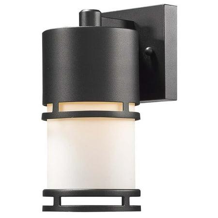 "Z-Lite Luminata 8.88"" Outdoor LED Wall Light in Black - image 1 de 1"