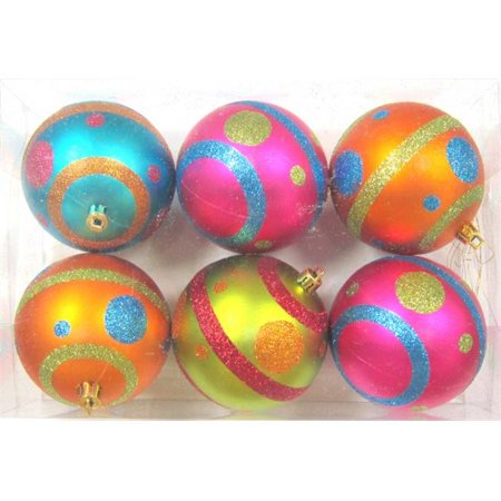 Mardi Gras Ornaments (Mardi Gras Ball Ornament with Dots Line Design, Pack of)