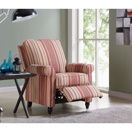 Lincoln Push Back Recliner Chair in Stripes, Multiple Colors All Terrain Push Chair