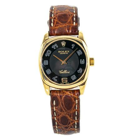 Pre-Owned Rolex Cellini 6229 Gold Women Watch (Certified Authentic & Warranty)