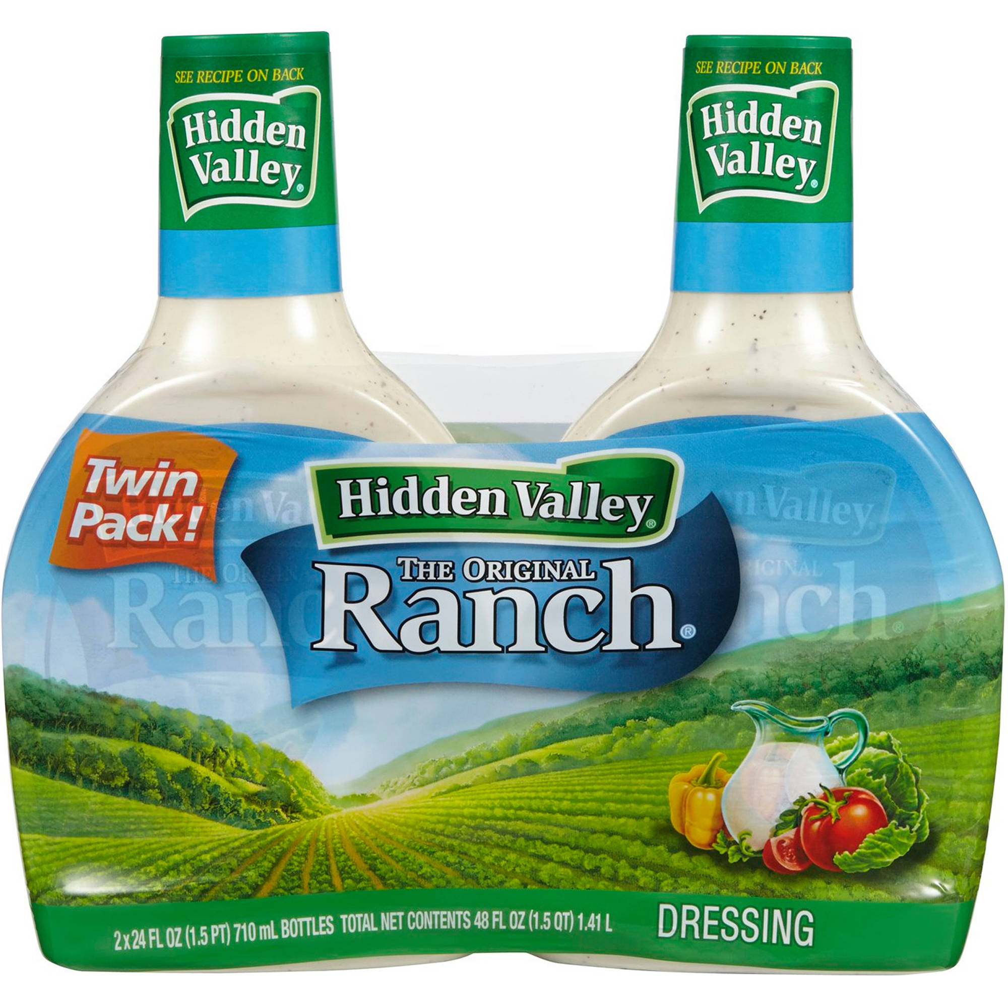 Hidden Valley Original Ranch Dressing, 32 fl oz, (Pack of 2)