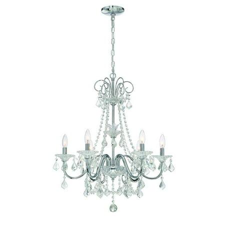 Home Decorators Collection 6-Light Chrome Crystal Chandelier  (Store Return)