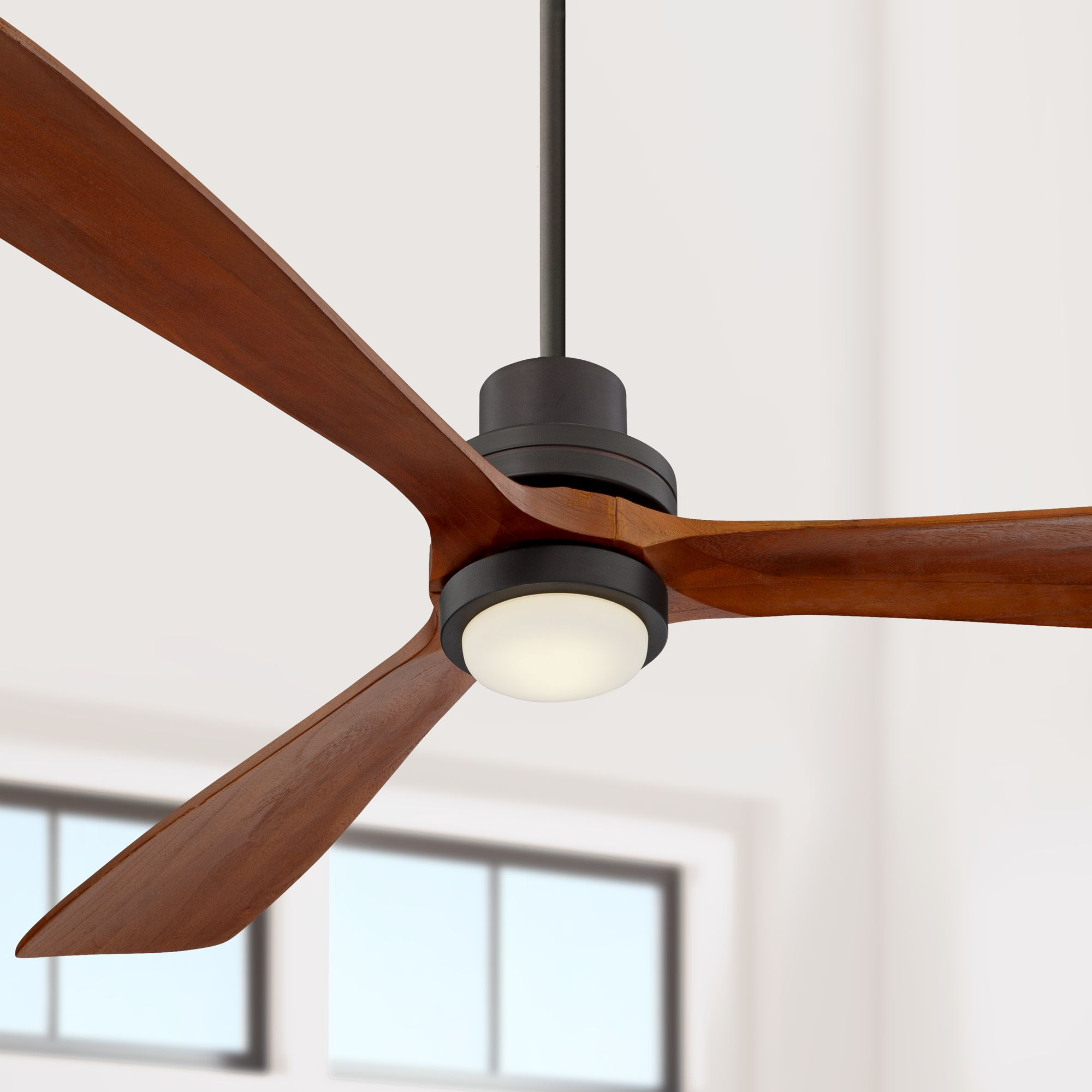 "Modern Ceiling Fans With Lights: 66"" Casa Vieja Modern Ceiling Fan With Light LED Remote"