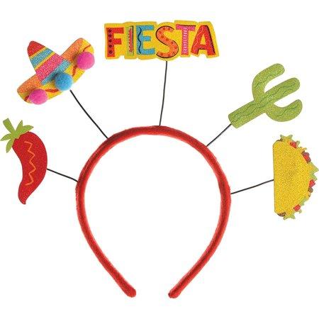 Fiesta Deluxe Adult Cinco De Mayo Party Headbopper Headband - Fiesta Hair