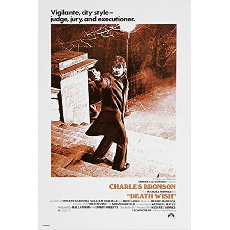 Death Wish Charles Bronson Vintage Movie Poster Crime Thriller Guns 24X36 (Reproduction, Not An Original)