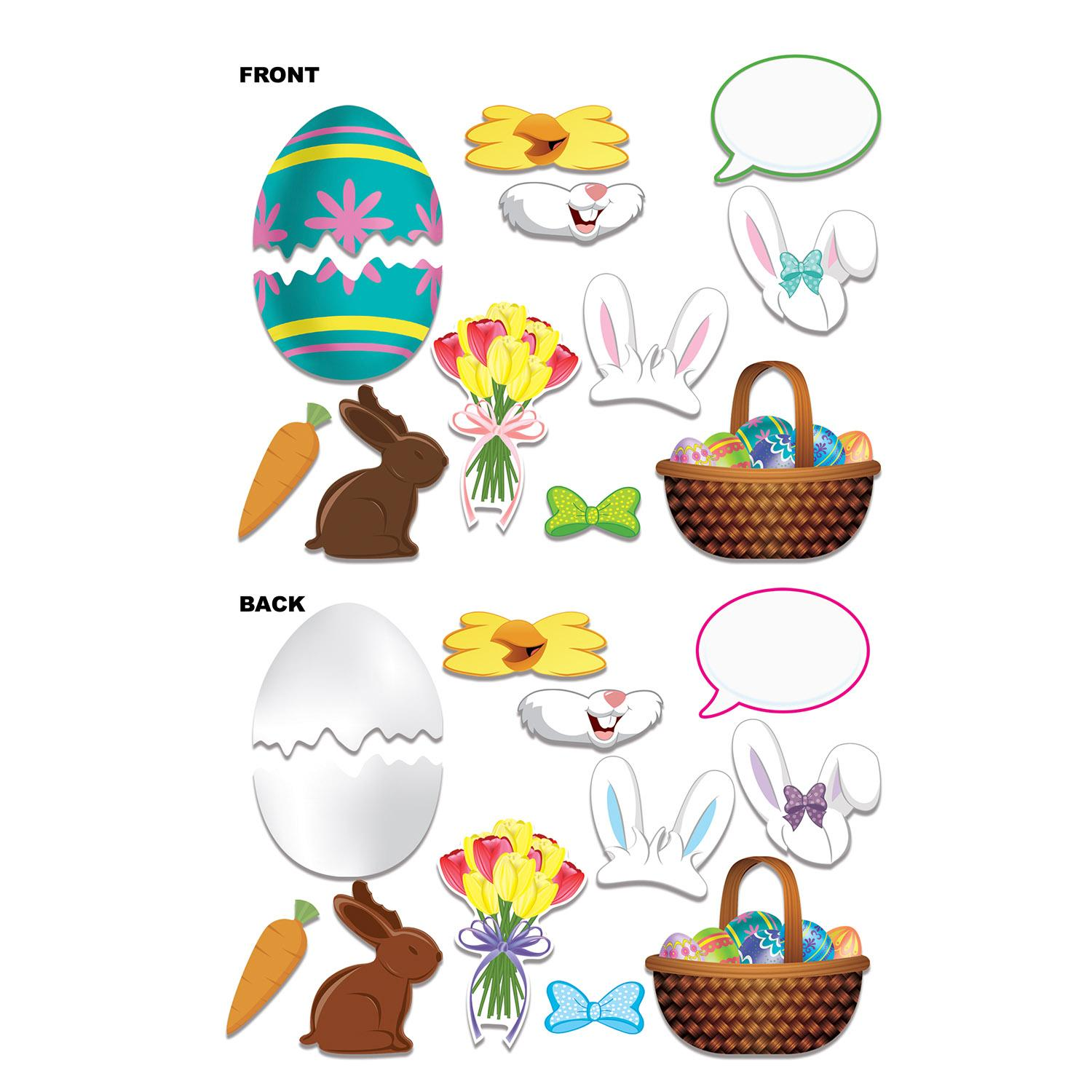 Club Pack of 132 Double Sided Assorted Easter Photo Fun Signs