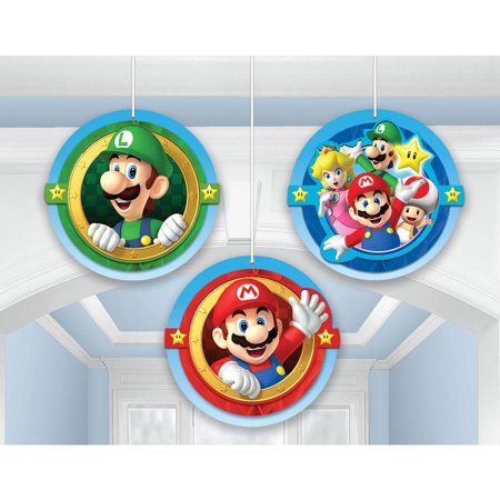 Super Mario Honeycomb Decorations (3 Pack) - Party Supplies