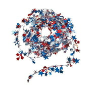Patriotic Wire Star Garland - Party Decor - 1 Piece