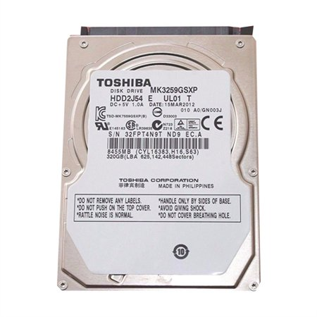Rocky Mountain Ram Toshiba Internal Notebook 2.5 Bare Drive 320GB 5400RPM 8MB Cache mk3259gsxp
