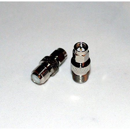 Fast Connector - SMA Male to F female coax RF connectors adapters; Fast Shipping; US Seller