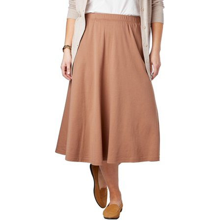 Woman Within Plus Size 7-day Knit A-line Skirt Tall Knit Skirt