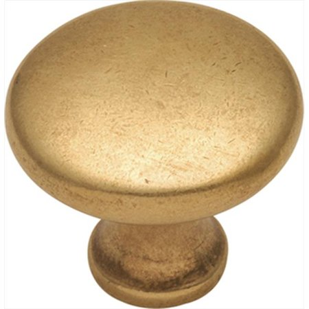 Hickory Hardware P14255-LB 1.12 In. Conquest Lustre Brass Cabinet Knob Brass Dining Room Cabinet