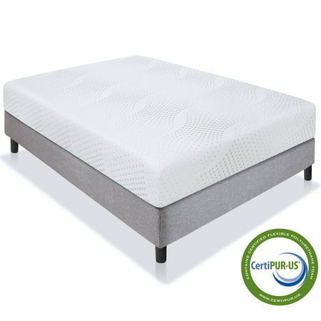 Best Choice Products 10in Full Size Dual Layered Medium-Firm Memory Foam Mattress w/ Open-Cell Cooling, CertiPUR-US Certified Foam, Removable (Best Place To Mattress Shop)