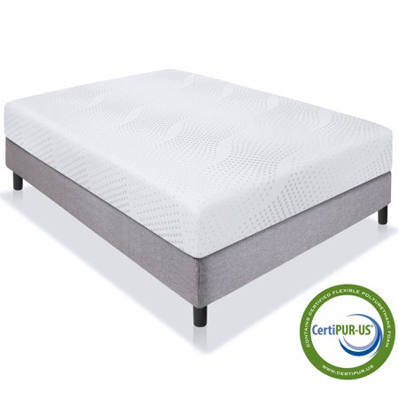 Best Choice Products 10in Full Size Dual Layered Medium-Firm Memory Foam Mattress w/ Open-Cell Cooling, CertiPUR-US Certified Foam, Removable