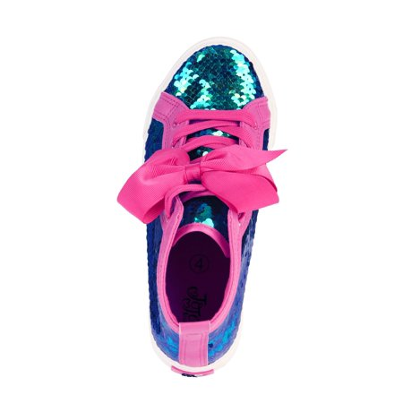 Girl's Sequin High Top Sneaker With Bow