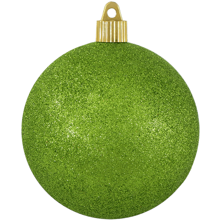 Christmas By Krebs Large Christmas Ornaments Red Glitter 4 100mm