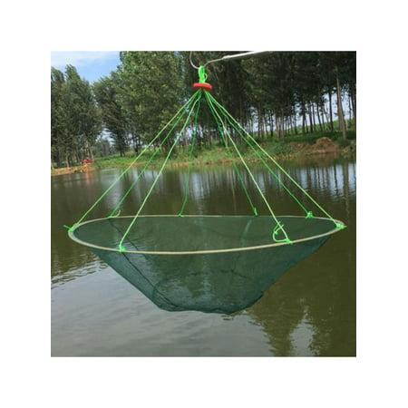 Meigar Foldable Prawn Bait Minnow Shrimp Drop Fishing Net Pier Harbour Green Pond Mesh (Drop Net)