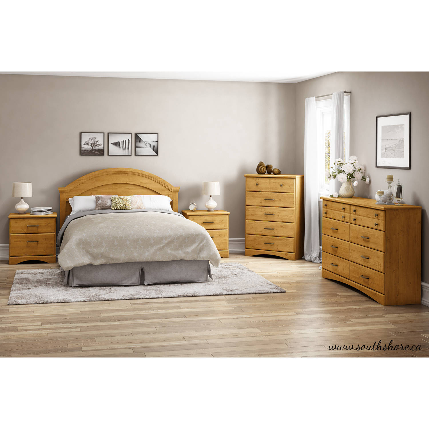 South Shore Cabana 6-Drawer Dresser, Country Pine by South Shore